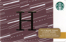 Starbucks 2014 Monogram H Collectible Gift Card New No Value - $2.99