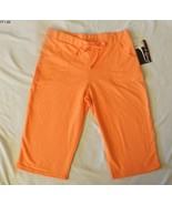 Fame 4 Fifteen Size Medium Orange Spa/Capris Pants NWT - $16.99