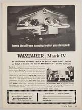 1964 Print Ad Wayfarer Mark IV & II Tent Camping Trailers Ward Mfg Hamil... - $9.78