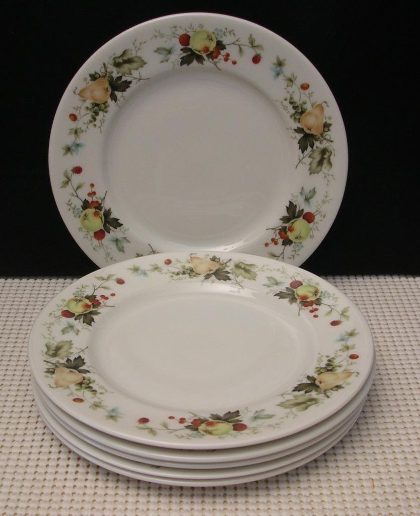 "Primary image for ""MIRAMONT"" TC1022 Royal Doulton Lot of 6 BREAD & BUTTER PLATES China Fruit"