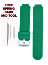 Compatible Lacoste 2010569  14x20mm Green Rubber Watch Strap LCS105 - $28.71