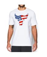 Under Armour Mens UA Project Rock T-Shirt Brahma Bull USA Flag 1308734-1... - £19.02 GBP