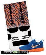 Nikeelitesockswhiteblackblueorangetigerstripes thumbtall