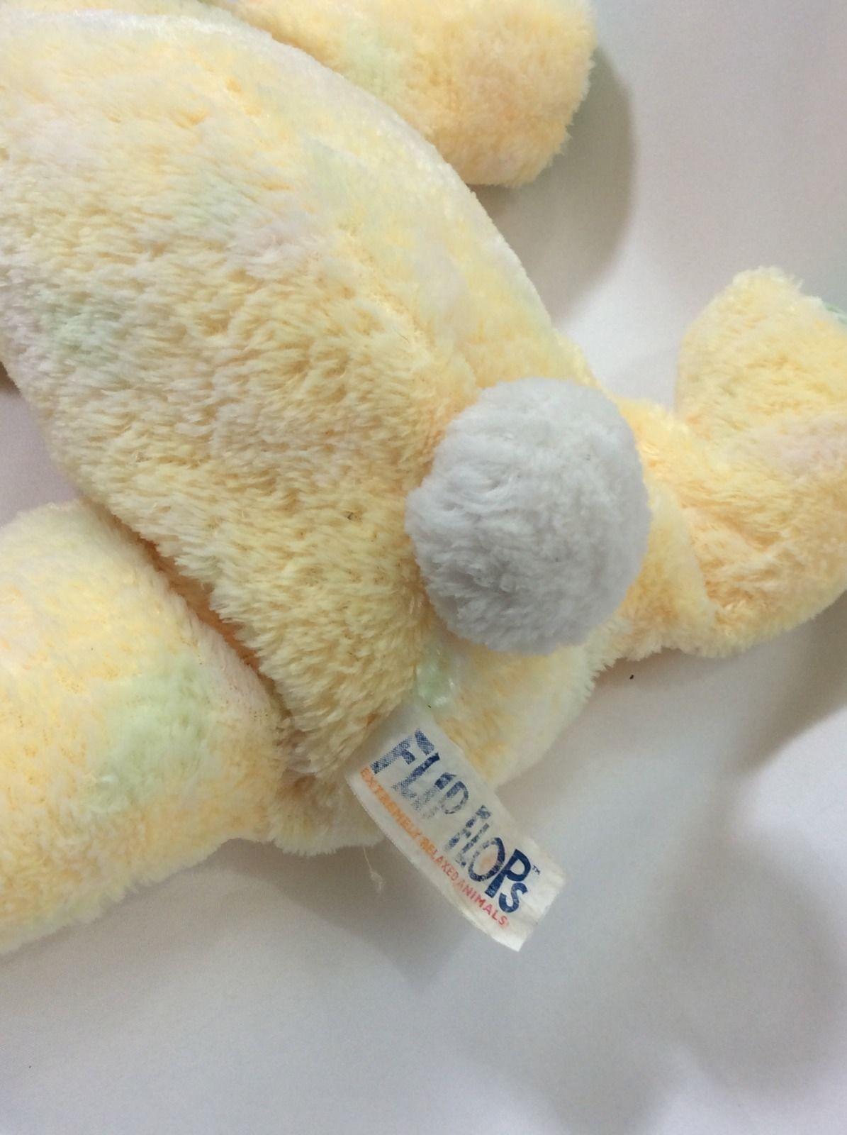"Mary Meyer Flip Flops Bunny Rabbit Plush Yellow Green 11"" Stuffed"