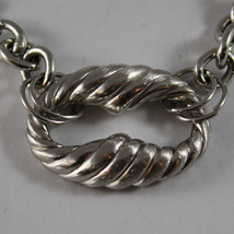 .925 RHODIUM SILVER BRACELET WITH WORKED OVAL image 2