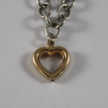 .925 RHODIUM SILVER BRACELET WITH YELLOW GOLD PLATED HEARTS image 2