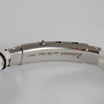 18K ROSE GOLD 925 SILVER WHITE SILICON WITH PIRATE ZANCAN BRACELET MADE IN ITALY image 3