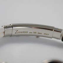 18K ROSE GOLD 925 SILVER WHITE SILICON WITH PIRATE ZANCAN BRACELET MADE IN ITALY image 4