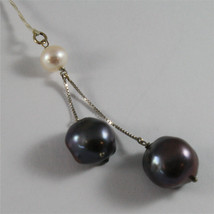 SOLID 18K WHITE GOLD PENDANT, 2,76 2,09 In, WHITE PEARL AND 2 BAROQUE PEARLS. image 2