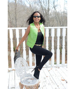 Designer Maxima Genuine crocodile Alligator green vest coat jacket S-M 2... - $1,599.00