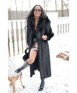 Designer Full length Blackglama Zinman Sable Black Mink Fur coat jacket ... - $1,999.99