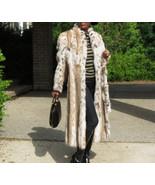 New Classy Elegant Full length spotted Lynx fur coat jacket stroller S-M... - $3,999.99