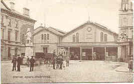 Station Square Iverness Scotland vintage Post Card - $7.00