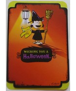 "Greeting Halloween Card Peanuts ""Wishing You a Halloween..."" - $3.99"