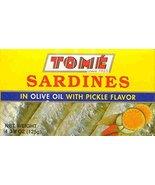 4 Packs Tome Sardines (In Olive Oil w/ Pickle Flavor) 125g Ea - $26.72