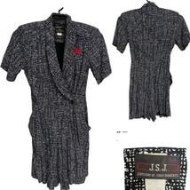 Vintage JSJ John Roberts White/ Black Romper Dress Women's Petite 9/10 (... - $49.40