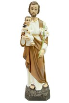 "19"" Saint St Joseph with Baby Jesus Catholic Statue Sculpture Vittoria I... - $129.99"