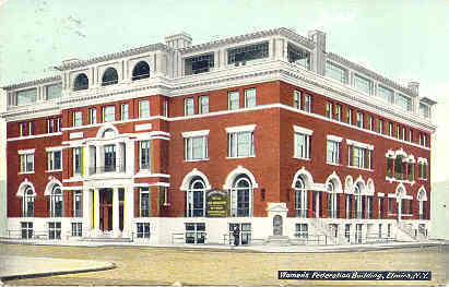 Womens Federation Bldg Elmira New York 1910 Post Card
