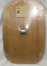 Longaberger 2005 Medium Waste Lid Warm Brown New in Shrinkwrap - $23.52