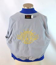 Vintage 80s Blue Satin Jacket TBS Super Station Windbreaker Retro Mens Size S image 4