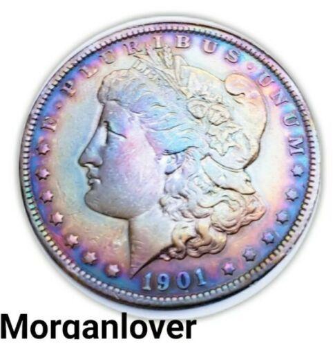 1901   MORGAN SILVER DOLLAR  TONING / KEY DATE.  990