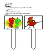 Garden Stakes002-Digital Download-ClipArt-ArtClip-Digital Art     - $4.00
