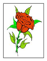 squares roses015j -Digital Download-ClipArt-ArtClip-Digital Art     - $4.00