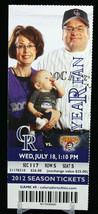 Colorado Rockies vs Pittsburgh Pirates MLB Ticket w Stub 07/18/2012 Year Fan - $8.17