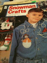 Lot of 3 Craft Books/Booklets of Snowman Crafts, Flower Crafts, CanCrafts - $8.99