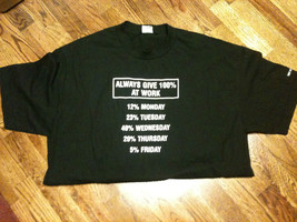"""Always Give 100% At Work"" Port St. Joe, FLA. T-Shirt Size XL EUC-L@@K!! - $9.99"