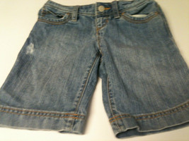 Girls Old Navy Denim 5 Pocket Shorts - Size 8 - Distressed Look - $6.98