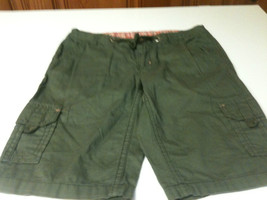 Girls Faded Glory Army Green Cotton Carpenter Shorts- Size 10 - $6.50