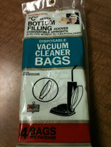 Vac Bags Hoover Upright Type C - 4 bag - Disposable Vacuum Cleaner Bags - $5.99