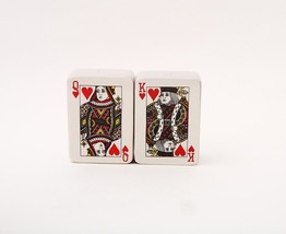 ATTRACTIVES MAGNETIC SALT PEPPER SHAKERS POKER CARDS KING QUEEN - $10.80