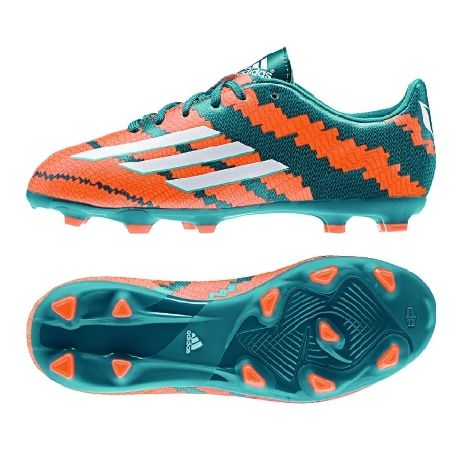 big sale 03c35 d3c97 ADIDAS MESSI F10.3 FG FIRM GROUND YOUTH SOCCER SHOES 2015 Power TealCore  White - 60.00