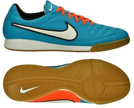 246b8f93e NIKE TIEMPO GENIO LEATHER IC INDOOR SOCCER SHOES Neo Turquoise Hyper Cri.