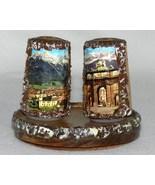 Vintage Wooden Salt Pepper Shakers  from Innsbruck Tirol Austria - $12.99