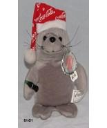 Collectible Coca-Cola Beanbag Plush 1997 Gray Seal with Snow - $10.99