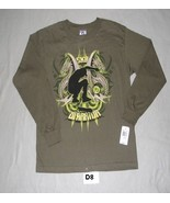 SK8 Warrior Size Boys Large Olive Brown Tee Shirt NWT - $14.99