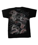 Glorified Size Boys Medium Black Dragon Tee Shirt NWT - $10.99
