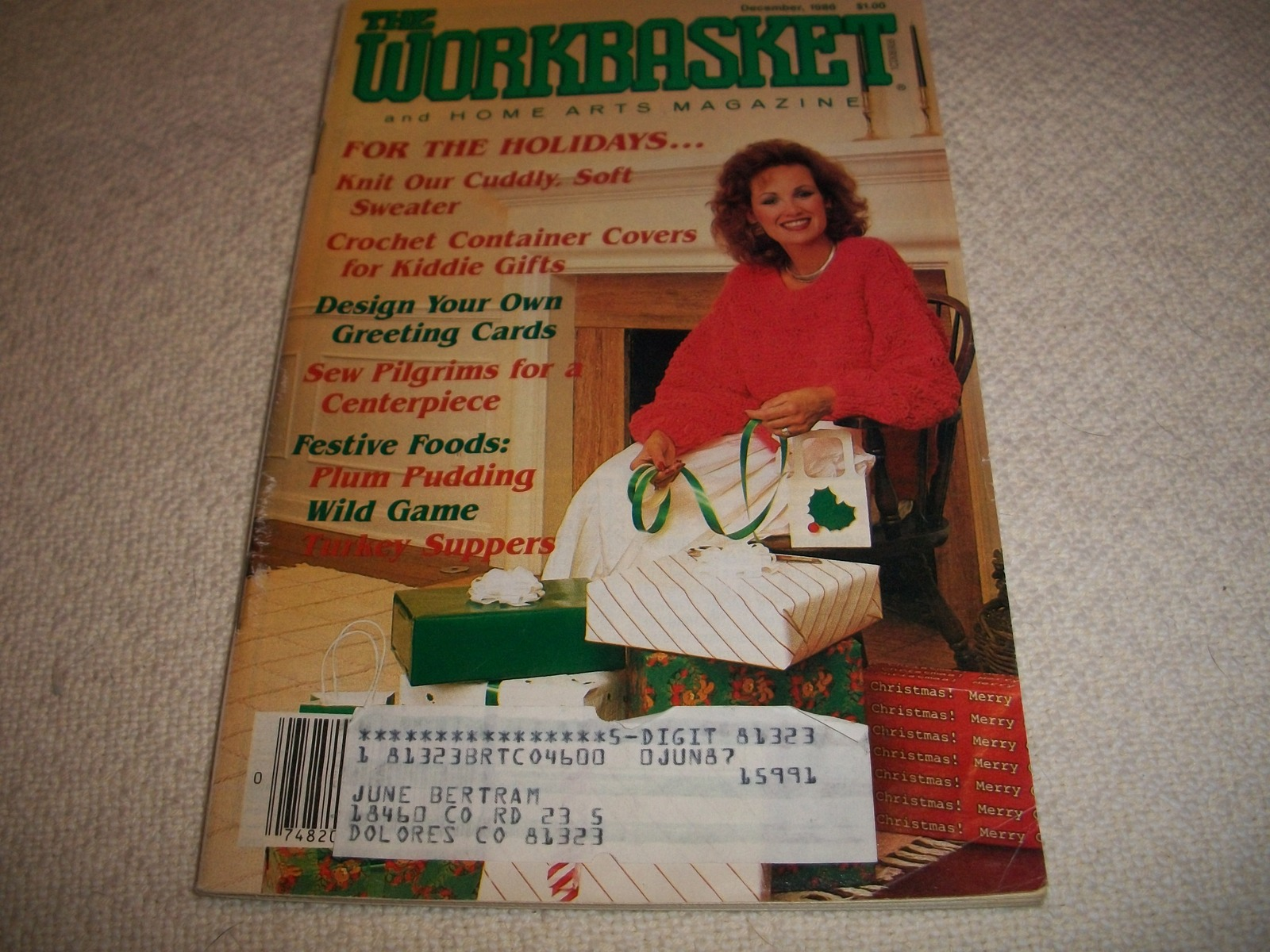 Workbasket Magazine December 1986 and 19 similar items