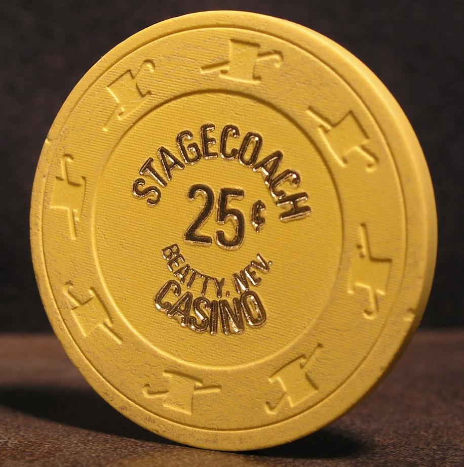 "Primary image for $0.25 Casino Chip From: ""The Stagecoach Hotel & Casino""- (sku#2924)"