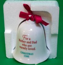"SALE! 1986 Hallmark Porcelain Bell Ornament ""Mo... - $2.95"