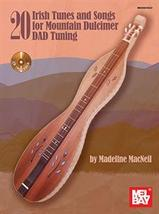 20 Irish Tunes and Songs For Mountain Dulcimer/DAD Tuning/Book w/CD Set - $18.99
