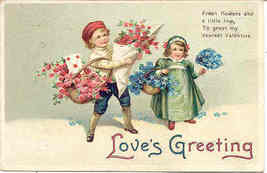 Loves Greeting Vintage 1914 Valentine Post Card - $6.00