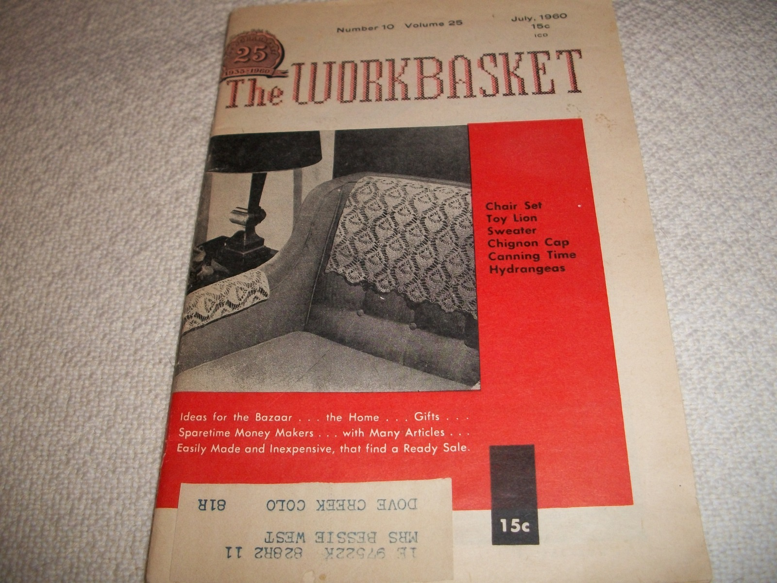 Workbasket Magazine July 1960 and 50 similar items
