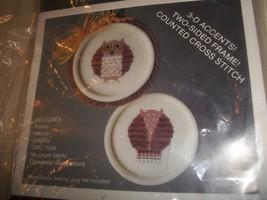 Raccoon Cross Stitch Kit & Owl Cross Stitch Kit - $10.00