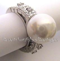 Faux Glass Pearl of Wisdom Clear Cz Ring Bridesmaid Wedding Elegant Clas... - $24.00