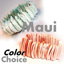 Beauty for Ashes Sea Shell Chunky Ocean Maui Beach Resort Pool Stretch B... - ₨340.86 INR