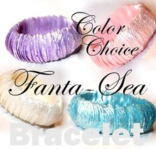 Fanta Sea Shell Beach Shimmering Ocean Sand Casual Resort Pool Stretch B... - $5.21